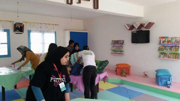 La réhabilitation de la bibliothèque de l'école primaire IBN KHALDOUN
